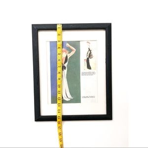 Vintage Wall Art - Vintage 1930's Fashion Framed Art